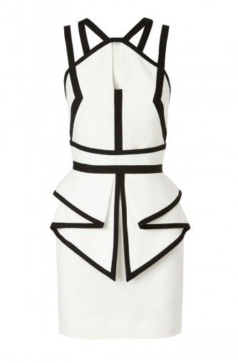 Sass And Bide Black And White Dress Fashion Ivory Dress Short White Fitted Dress