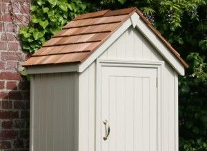 English Garden Shed Sentry Box Tool Store Detail Project