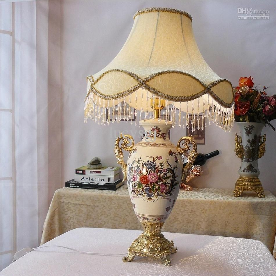 antique lighting for sale uk. 2016 fashion quality ceramic table lamp antique vintage style cloth cover dimmer switch from lucysgj lighting for sale uk