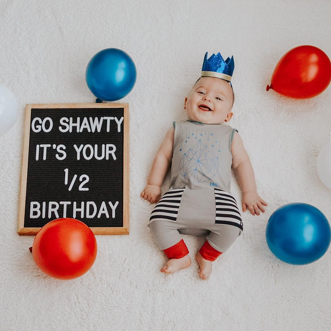 Happy 6 Months Baby Cute Milestone Picture Ideas Tagyourrags Reposted From Daniellehartru Baby Month By Month Baby Milestones Pictures Monthly Baby Pictures