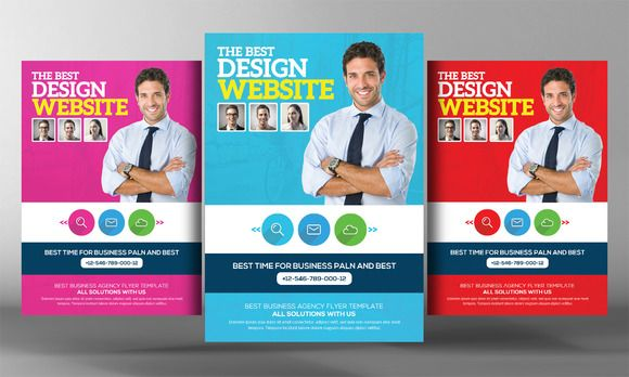 Website Design Agency Flyer Template | Flyer template, Design ...