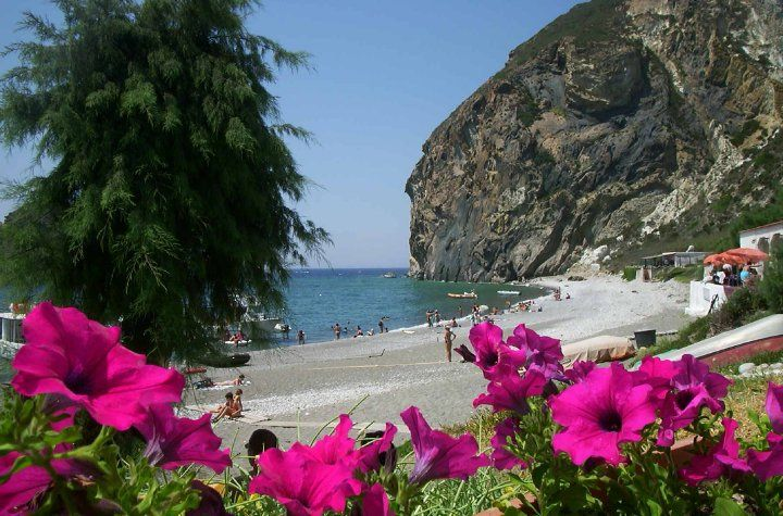 Spiaggia on Palmarola (right next to Ponza)