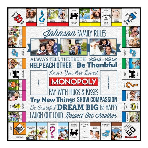 Family Rules White Personalized Monopoly Game - 25 Photos