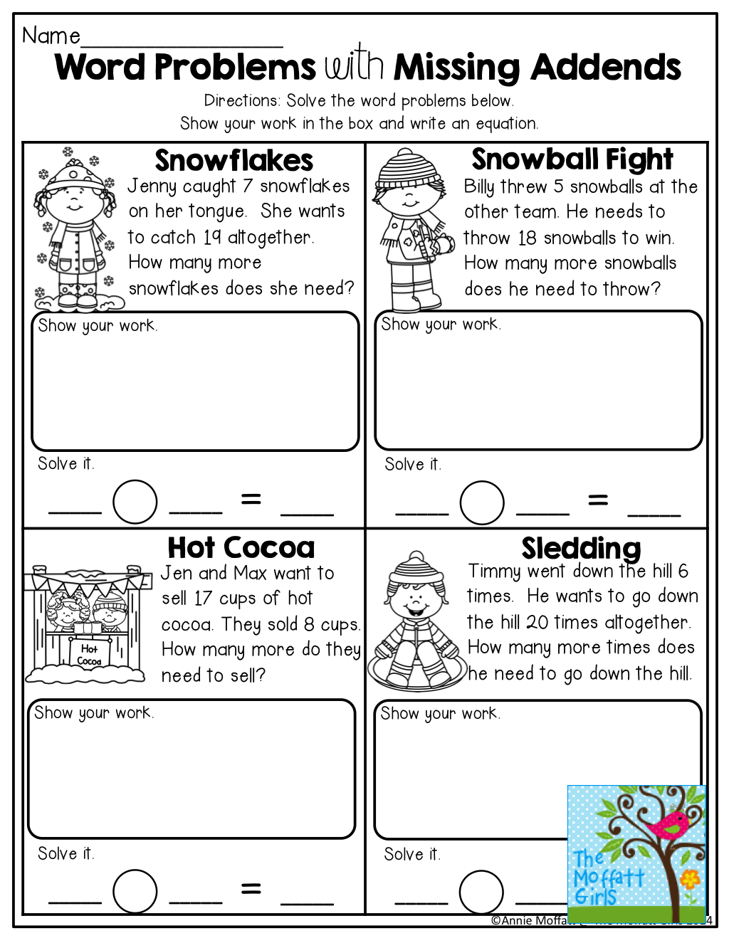 Word Problems Tons Of Other Great Printables