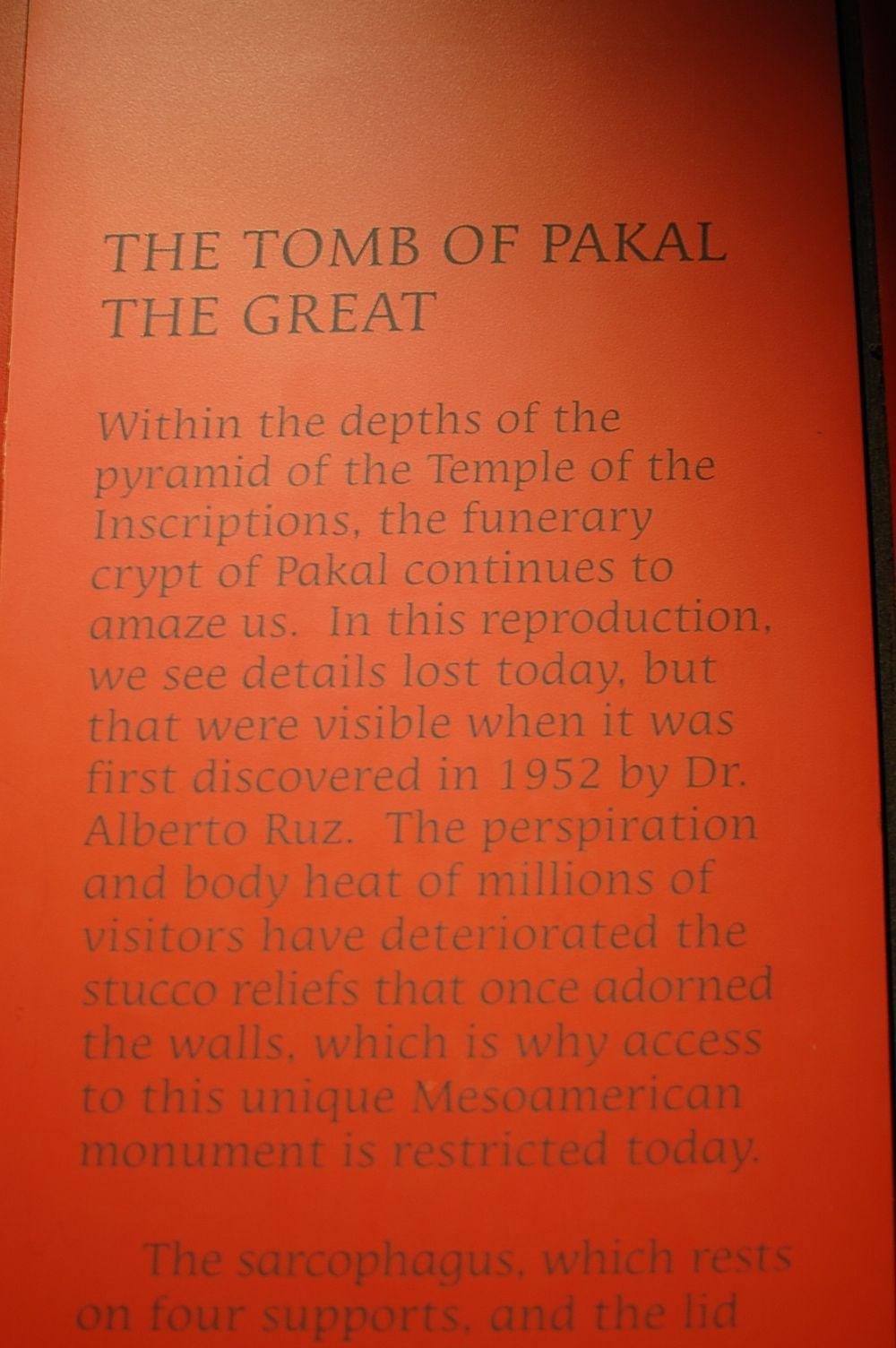 Tomb of Pakal Graphic
