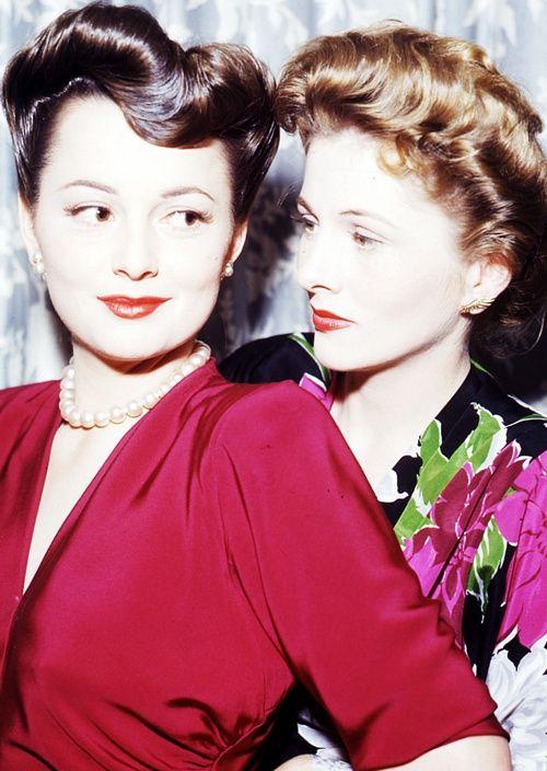 Olivia de Havilland and Joan Fontaine ♥