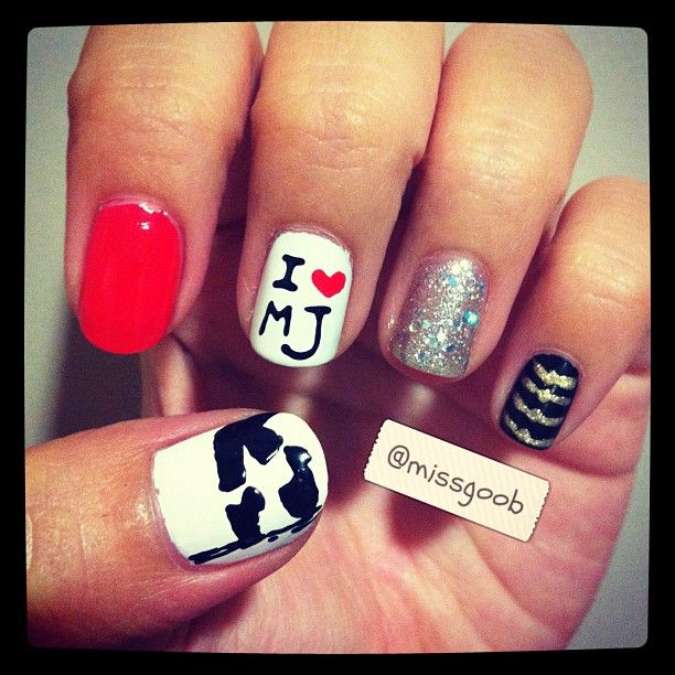 Michael Jackson nails! Exxxcellennntt | Nails\' art | Pinterest ...