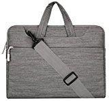 MOSISO Laptop Aktentasche Denim-Stoff für 12,9 Zoll iPad Pro, 13-13,3 Zoll MacBooks, Laptops Farbe: Grau