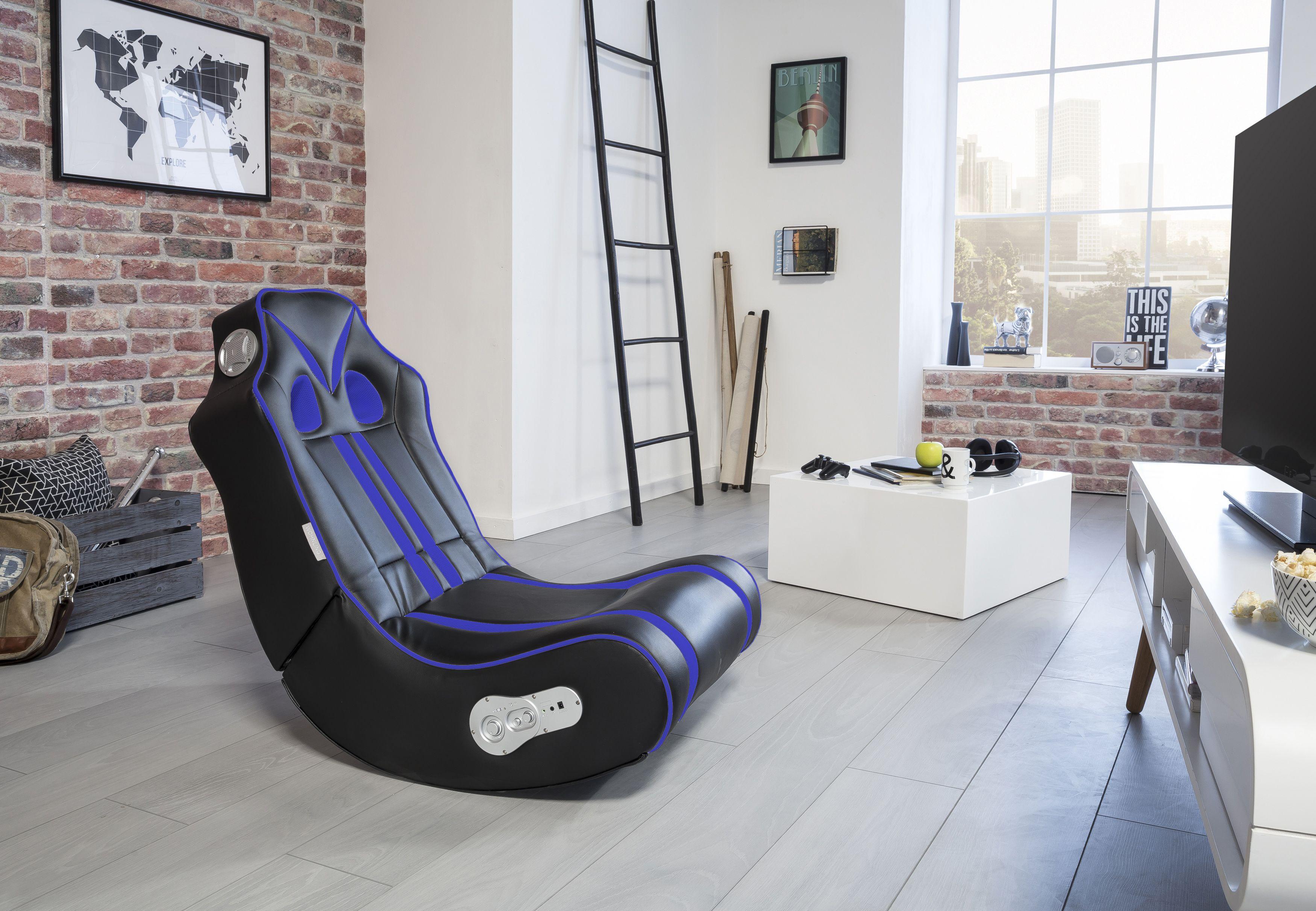 Wohnling Ninja Soundchair schwarz-blau mit Bluetooth WL8.022 aus ...