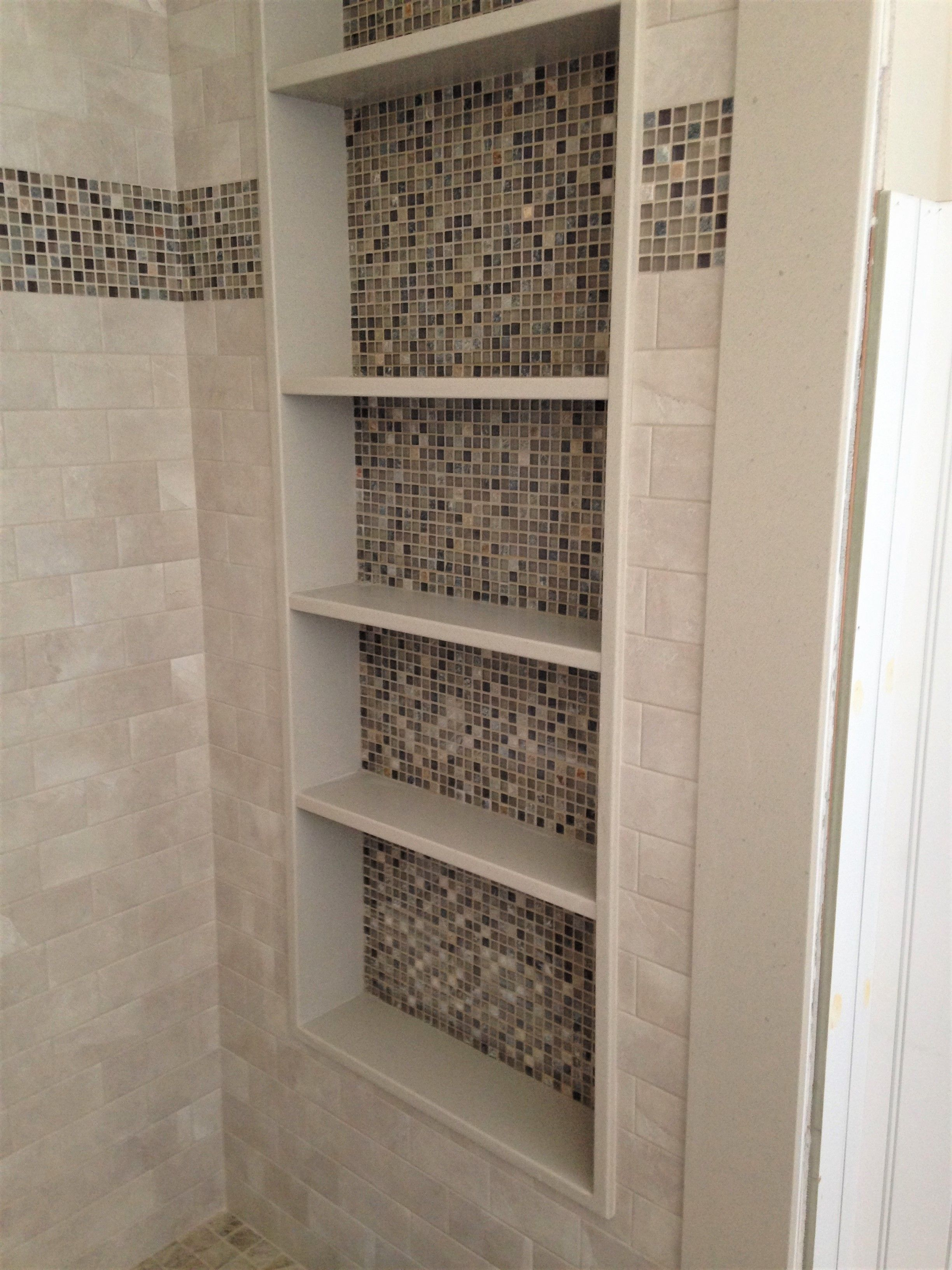 Large Shower Niche Bathroom Shelves Glass