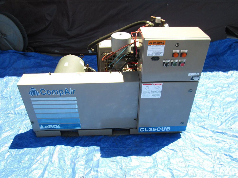Leroi Compair Model Cl25cub 25 Hp Rotary Air Compressor With Only