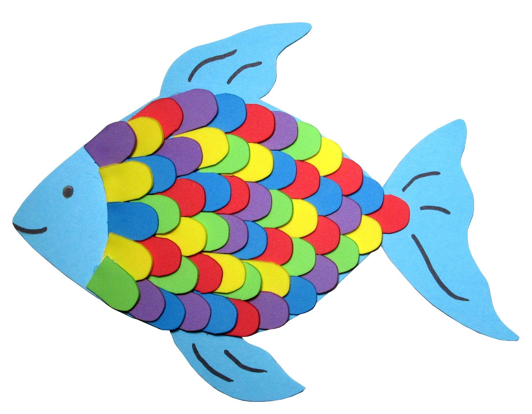 unsere brandneue bastelidee  der regenbogenfisch aus
