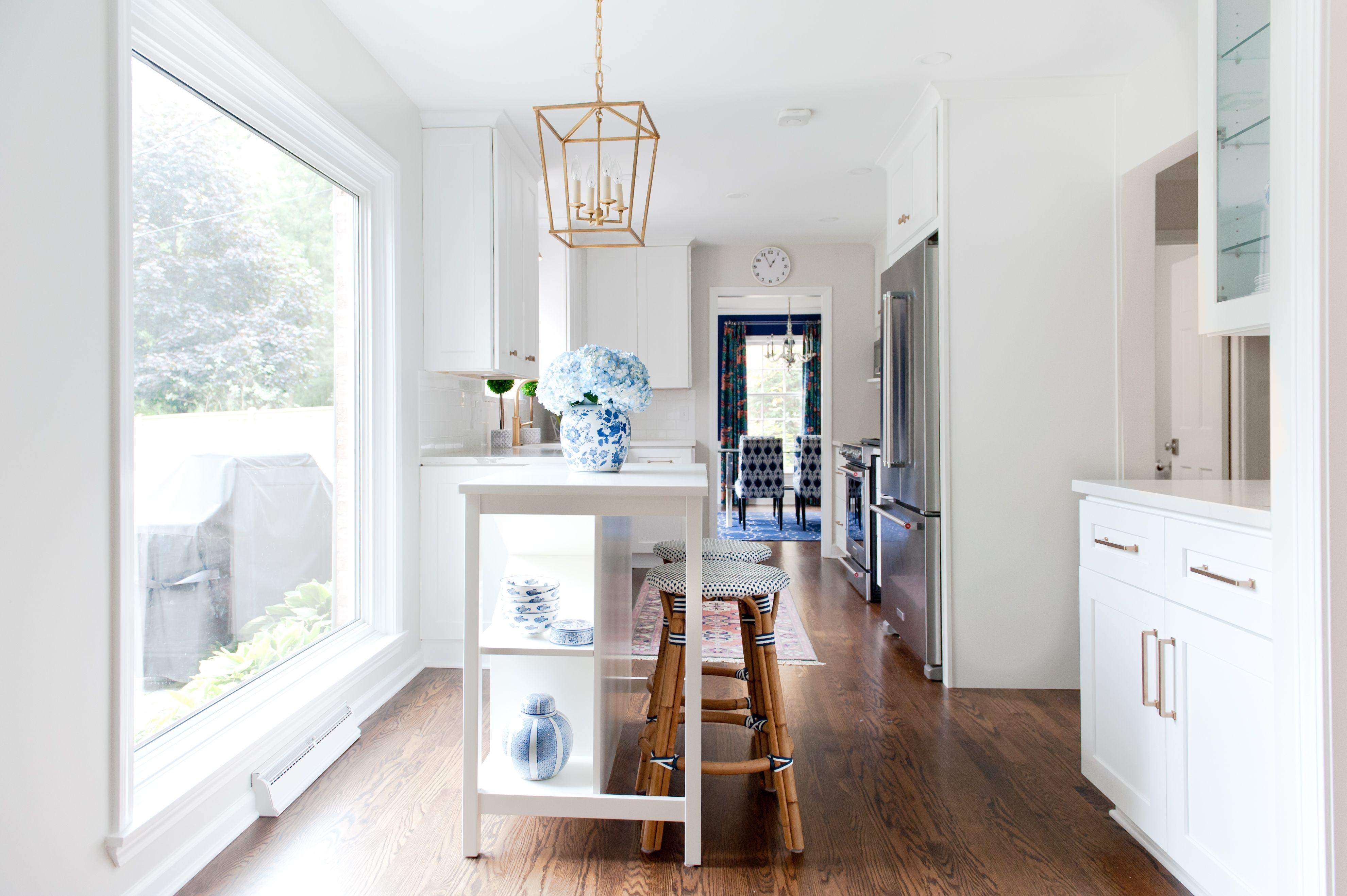 New White Galley Kitchen - Ashley Colombo Interiors #whitegalleykitchens