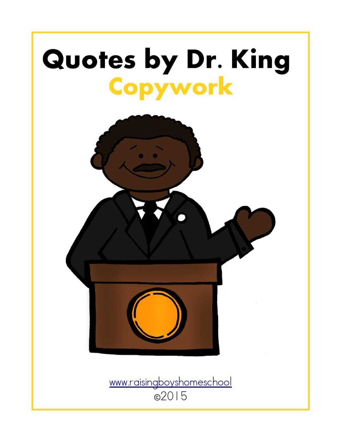 Martin Luther King Jr Copywork