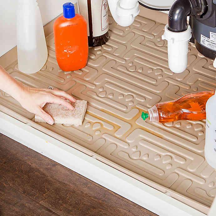 Xtreme Mats Under Sink Bathroom Cabinet Mat Bed Bath Beyond In