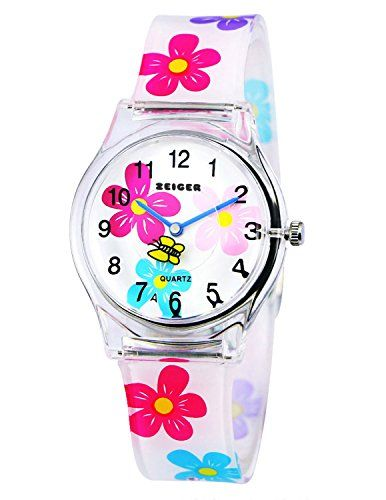 Free Shipping Little Boys And Girls Lovely Flower Dial Jelly Leather Watch Kids Learn To Time Colorful No Back To Search Resultswatches Gift El Reloj Clock