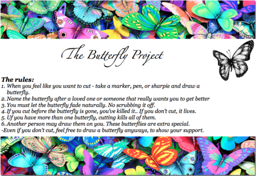 the butterfly project self harm The butterfly project (self-harm support) 32k likes the butterfly project.