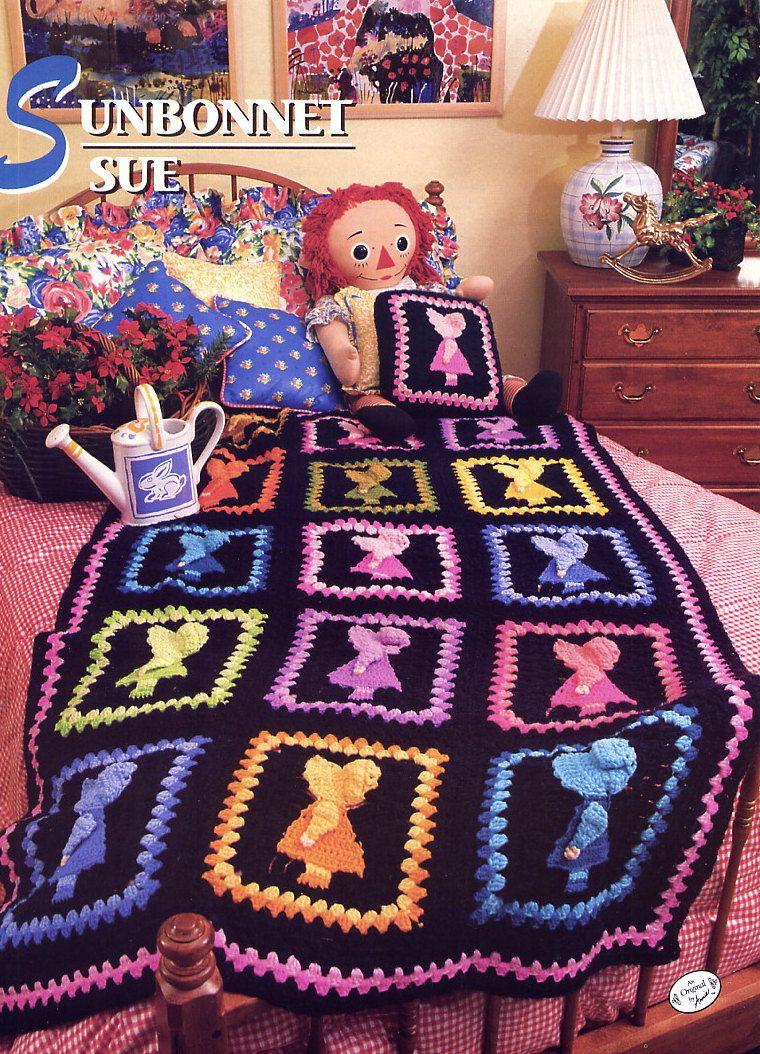 Sunbonnet sue crochet afghan pattern annies attic crochet quilt sunbonnet sue crochet afghan pattern annies attic crochet quilt afghan club bankloansurffo Choice Image