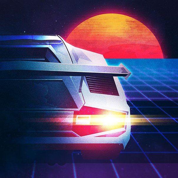 Digital Dream Lamborghini Countach Retrowave A U T O Retro
