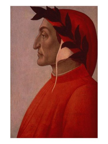 Dante Alighieri: Portrait of Dante (Oil on Canvas) Giclee Print by Sandro Botticelli at AllPosters.com