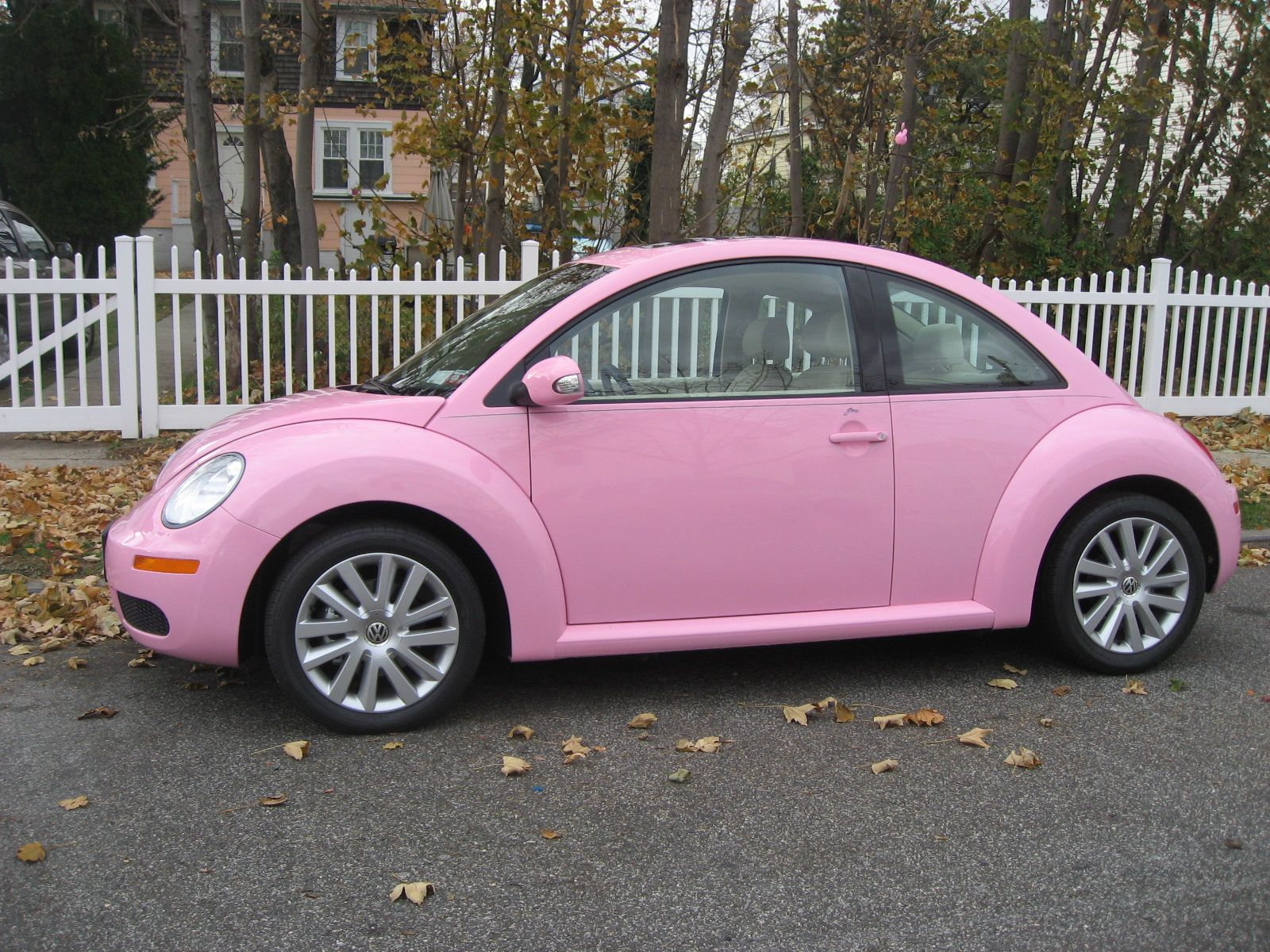 metallic driver wrapped volkswagen vw pink ultra vinyl beetle in