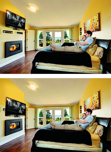 Mantelmount Is Perfect In The Bedroom Watch Your Tv At The Perfect Height And Angle From The Comfort Of Tv Wall Mount Bedroom Bedroom Tv Wall Wall Mounted Tv