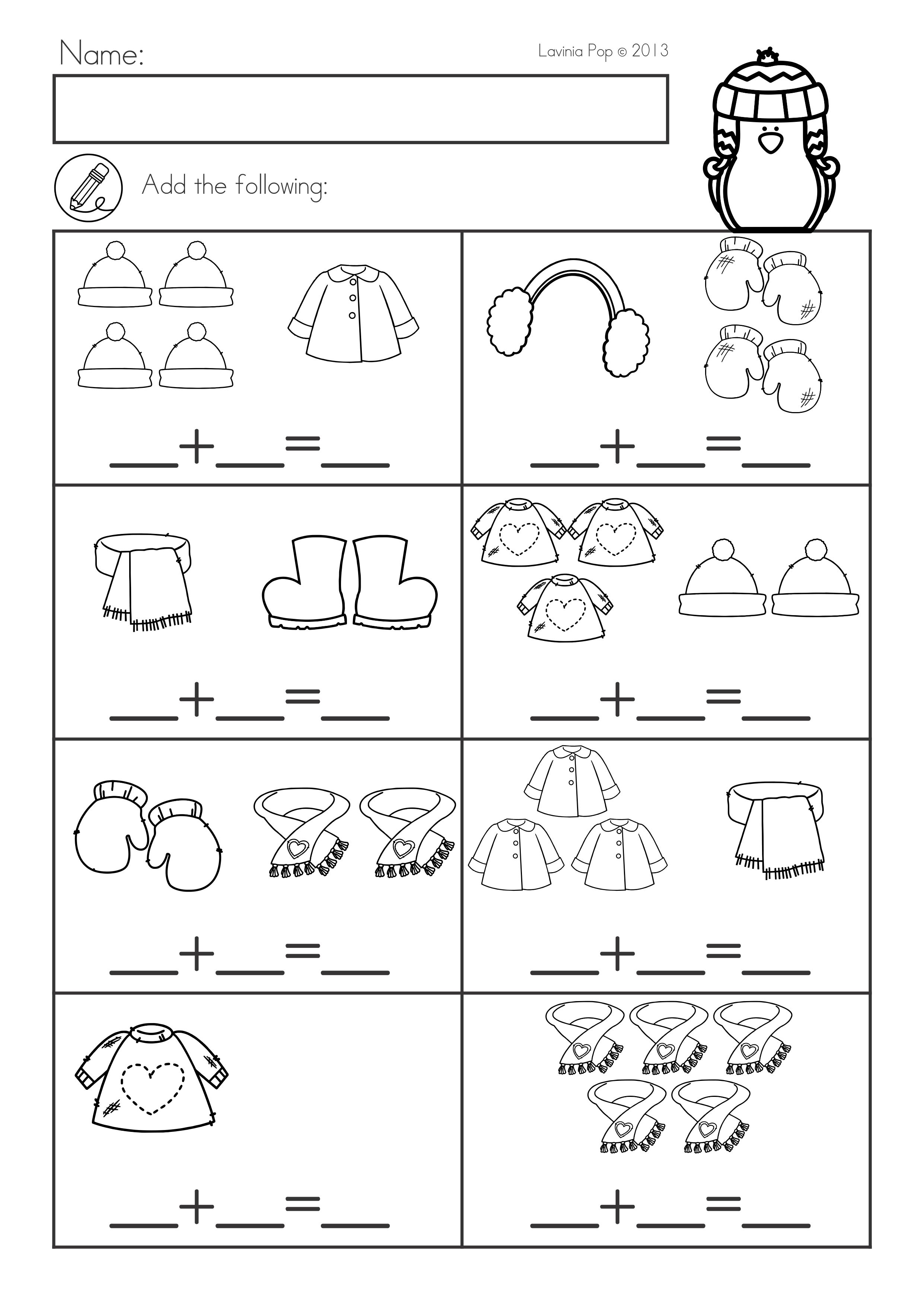 Winter Math Worksheets \u0026 Activities No Prep   Winter math worksheets [ 3508 x 2482 Pixel ]