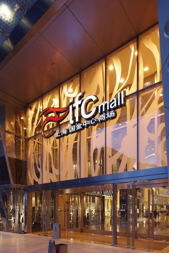 Shanghai Ifc Mall Benoy Shopping Mall Design Retail Facade Mall Design