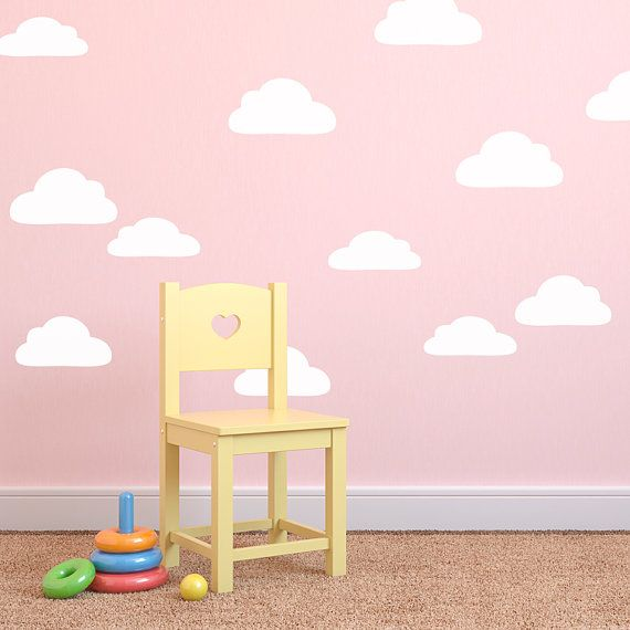 Large Cloud Wall Decals   Cloud Decals   Cloudy Sky Wall Mural Decal    Child Nursery