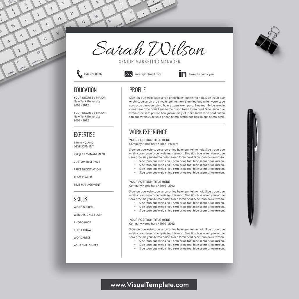 Resume Template Professional Free, Visit my website Resume