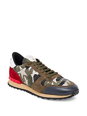 74db92b21c6c0 Valentino Rockrunner Star Studded Sneakers | Fav Shoes | Studded ...