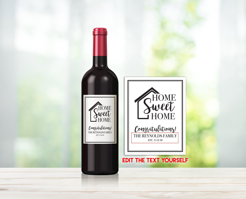 Housewarming Gift DIY Printable Wine Bottle Label
