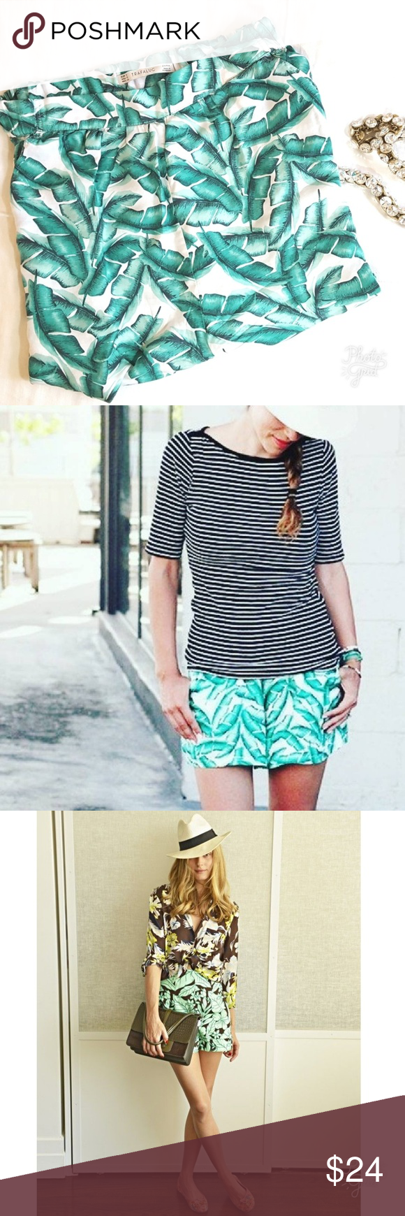 5f95e32e ZARA Trafaluc | Palm Leaf Shorts ~ Zara Trafaluc ~ Print: Palm Leaf / Banana