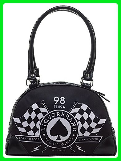 b8ded4446a Liquor Brand Race Flags Black White Faux Leather Small Bowling Bag Purse - Shoulder  bags ( Amazon Partner-Link)