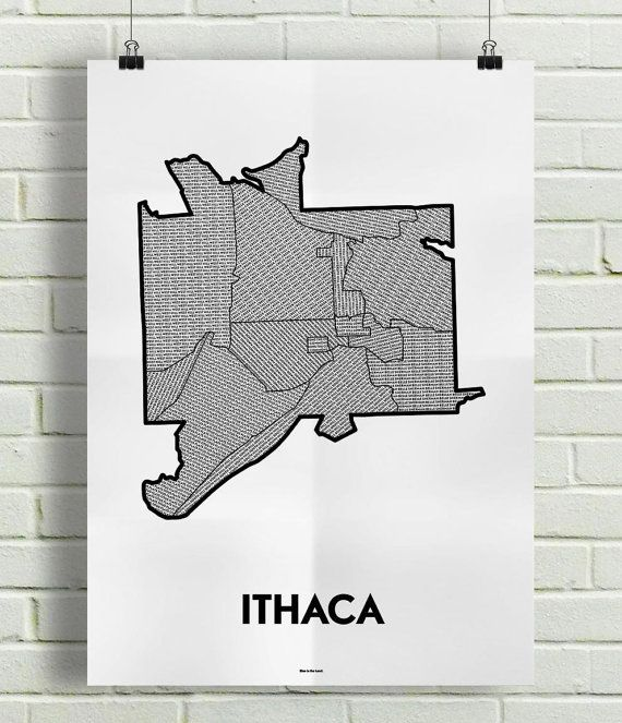 Ithaca Neighborhoods Map (With Images)