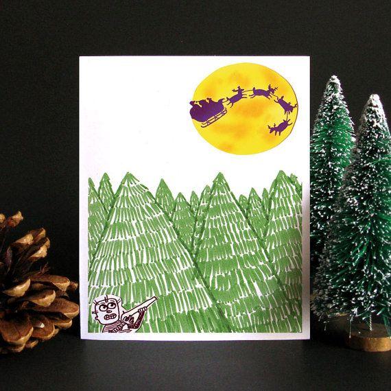 Funny Christmas Card, Funny holiday card, Holiday card, Christmas ...