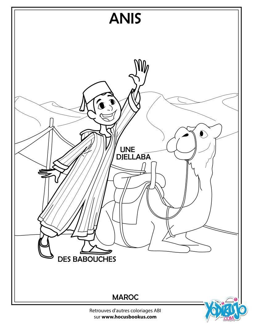 Niño Marroquí Diseño De Personajes Dibujos Dibujos Para Colorear
