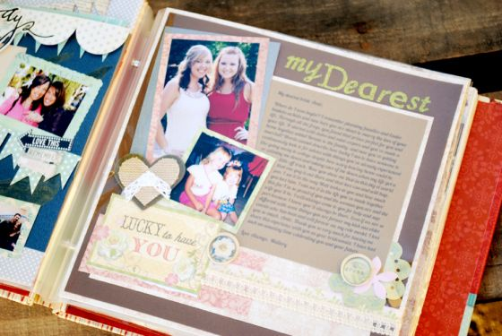 A Gift From The Bridesmaids And Maid Matron Of Honor A Scrapbook Of Letters For The Bride Bride Scrapbook Wedding Gifts For Bride And Groom Bridal Shower Scrapbook