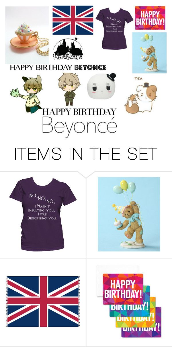"""""""HAVE A VERY BRITISH BIRTHDAY"""" by tarabean ❤ liked on Polyvore featuring art"""