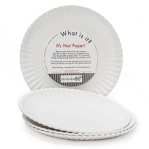 NEW What Is It Reusable White Dinner Plate 9 Inch Melamine Set of 4  sc 1 st  Pinterest & New What Is It Reusable White Dinner Plate 9 inch Melamine Set of 4 ...
