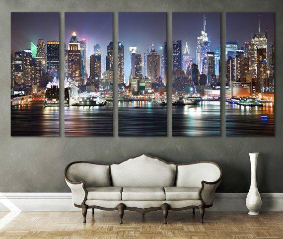 New york cityscape canvas print wall art multi panel wall decor new york