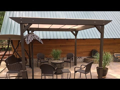 Diy How To Build A Simple Stand Alone Sun Shade Shelter Youtube Diy Pergola Pergola Pergola Patio