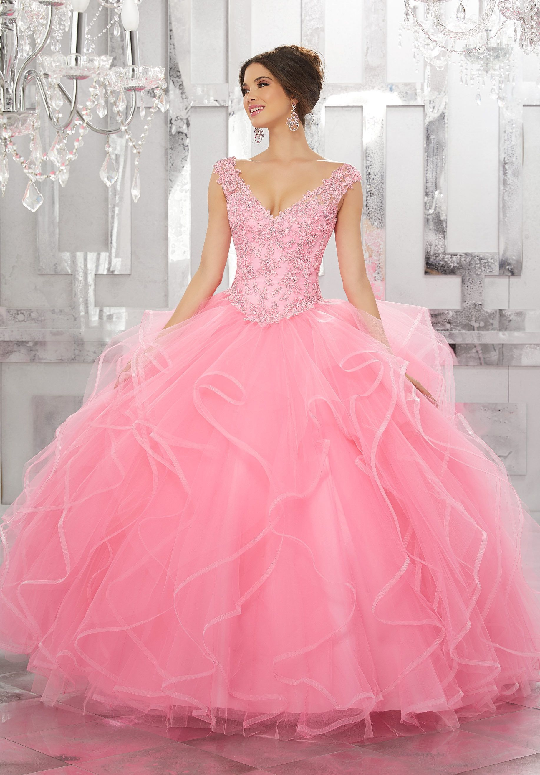 3cdc73662d Off the Shoulder Quinceanera Dress by Mori Lee Valencia 60026 in ...