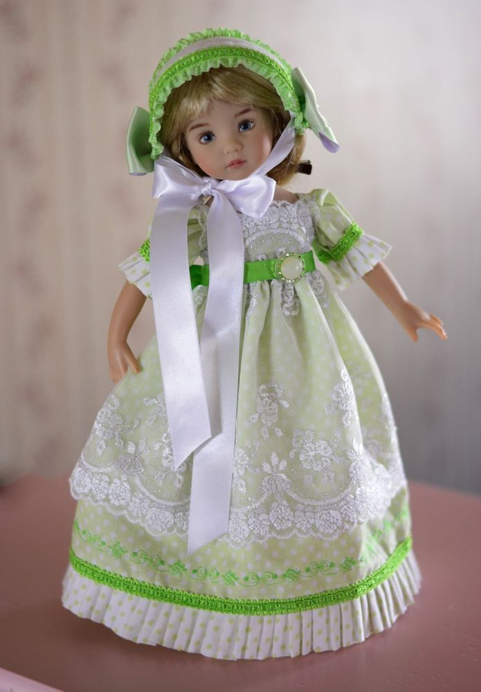 """SOLD """"Regency Tea""""Dress,Outfit,Clothes for 13""""Effner Little Darling by Luminaria #ClothingAccessories"""
