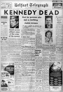 Image result for photo of JFK in Belfast
