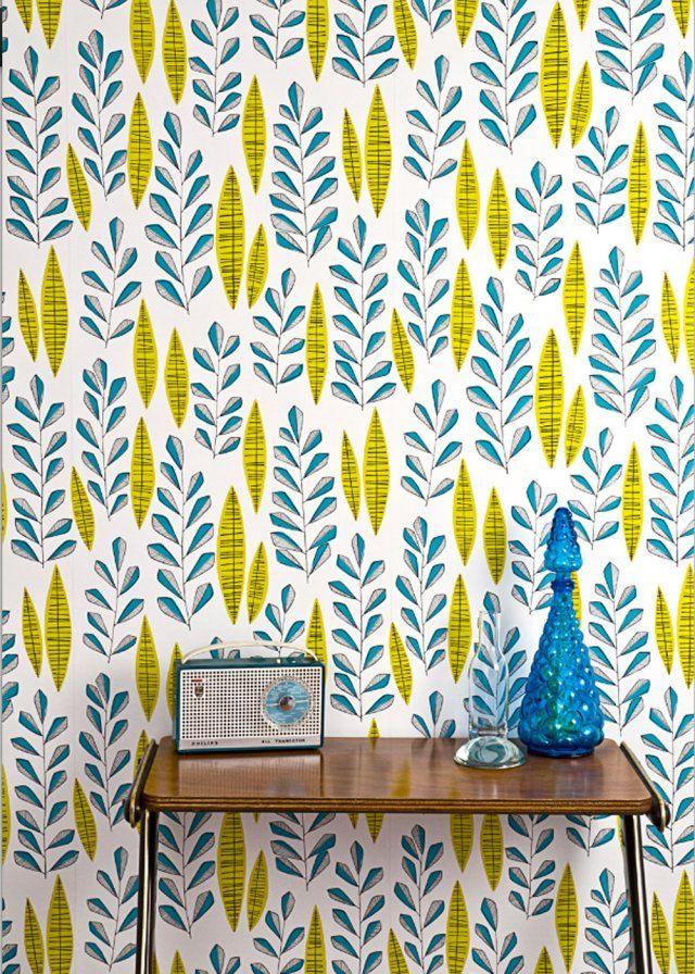 inspiration le papier peint fleuri ou motif v g tal the wall pinterest. Black Bedroom Furniture Sets. Home Design Ideas