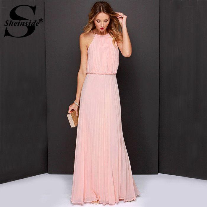 Cheap Sheinside Vestidos De Festa ropa mujer 2015 sólido rosa sin ...