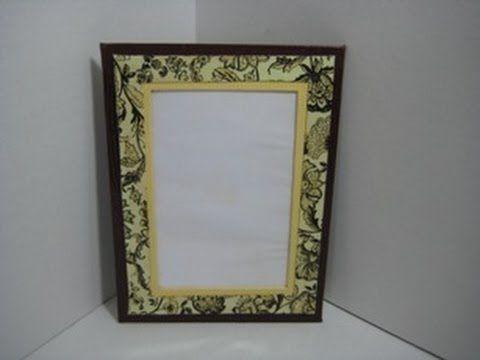 comment faire un cadre en carton youtube mat riaux pinterest cadre en carton cadres. Black Bedroom Furniture Sets. Home Design Ideas