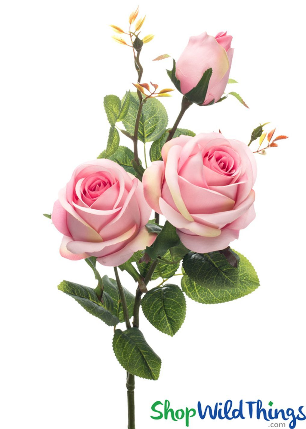 Silk Roses Spray  3 Heads  31  Pink  BUY MORE SAVE MORE
