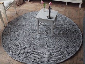 Vloerkleed Zpagetti Fiber Crafts Knit Rug Crochet Knitting